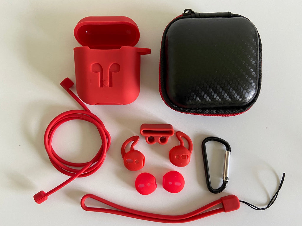 oopods airpods case hoesje cover rood red
