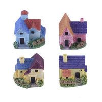 AUGKUN 1pc Mini Small House Cottages DIY Toys Microscopic House Decoration Home Garden Ornament Landscape Decor Random Color