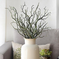 Household Artistic Decorate Artificial Tree Branches Fake Plastic Small Tree Dried Branch Home Wedding Decoration #0528