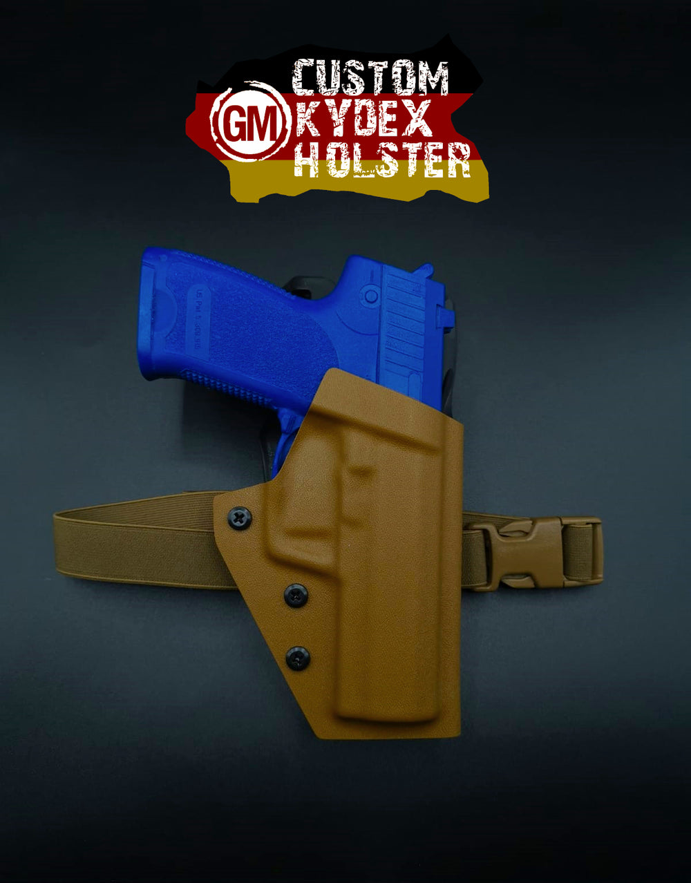 GM OWB Custom Kydex Holster H&K Multi Mount für SFP9 SD