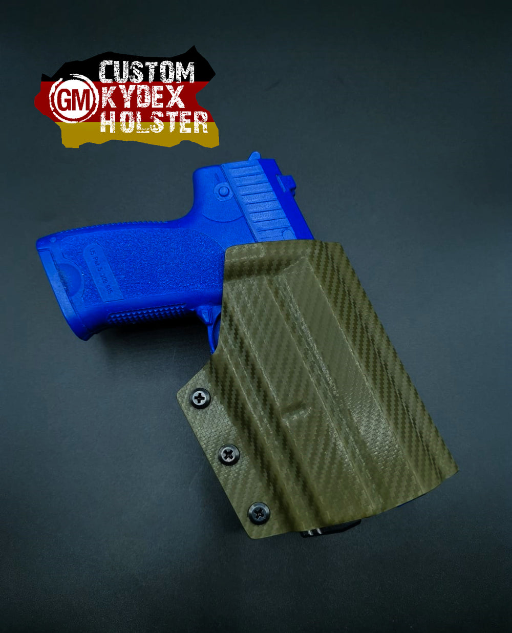 GM OWB Custom Kydex Holster H&K Multi Mount für P8 / USP