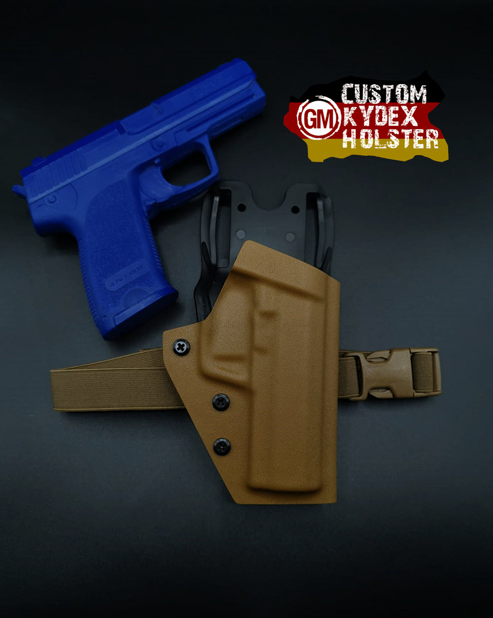 GM OWB Custom Kydex Holster H&K Multi Mount für P9S