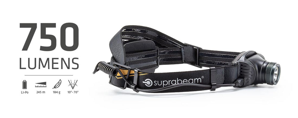 Suprabeam Kopflampe V3pro rechargeable