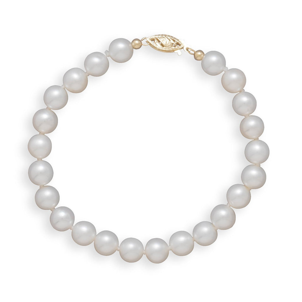 "7"" 6.5-7mm Cultured Freshwater Pearl Bracelet"