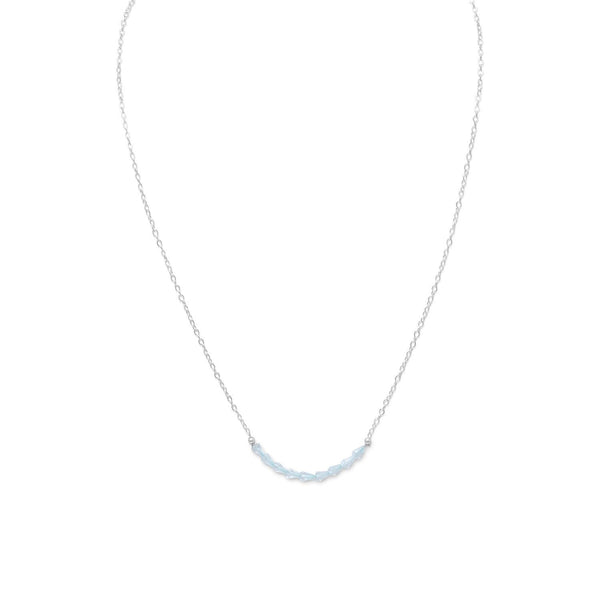 Faceted Blue Topaz Bead Necklace - December Birthstone