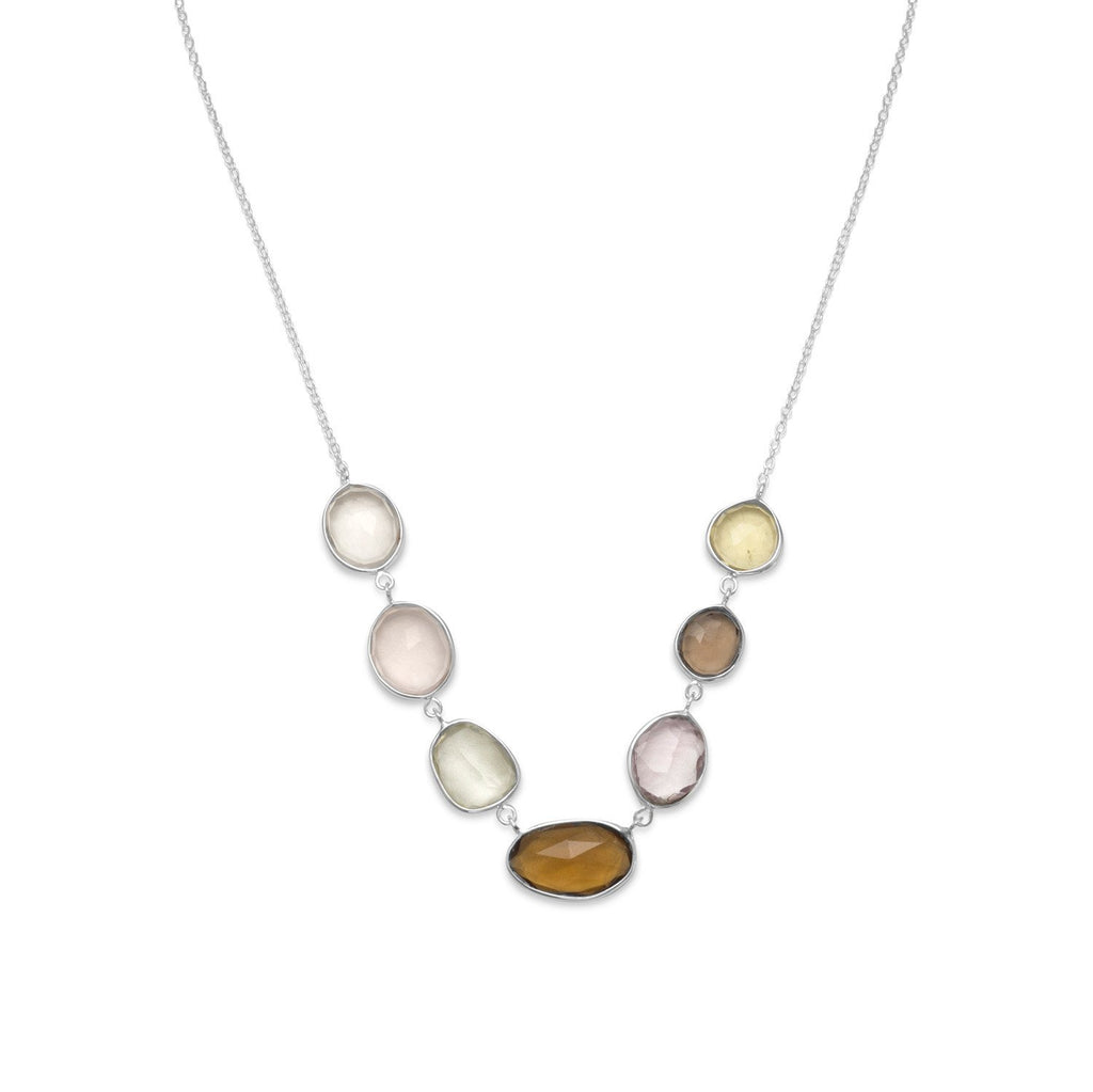 Multicolor Faceted Gemstone Necklace