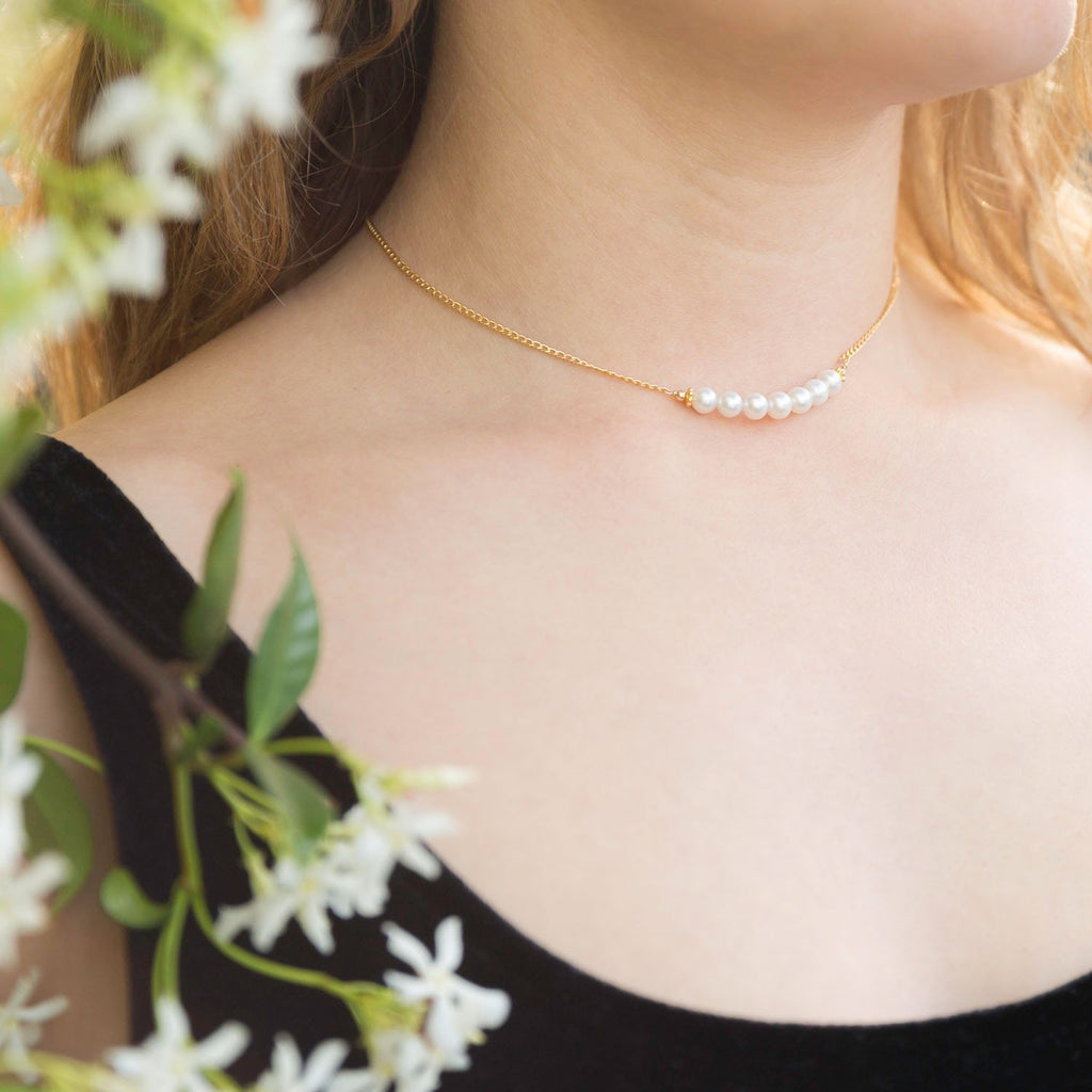 Beautiful 14/20 Gold Filled Cultured Freshwater Pearl Back Drop Necklace - Blue Tulip Boutique