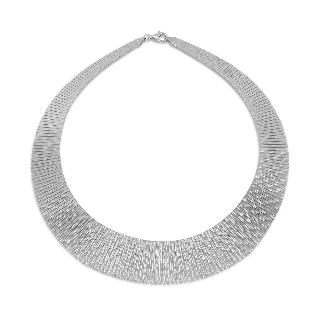 Rhodium Plated Cleopatra Style Necklace