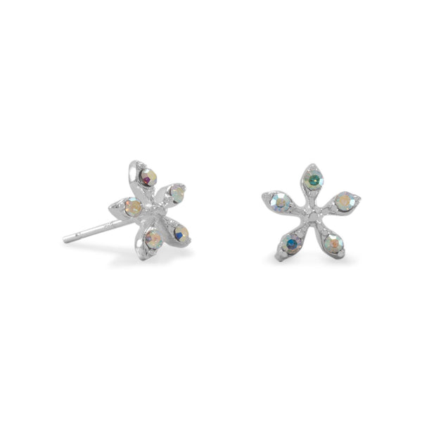AB Crystal Flower Earrings