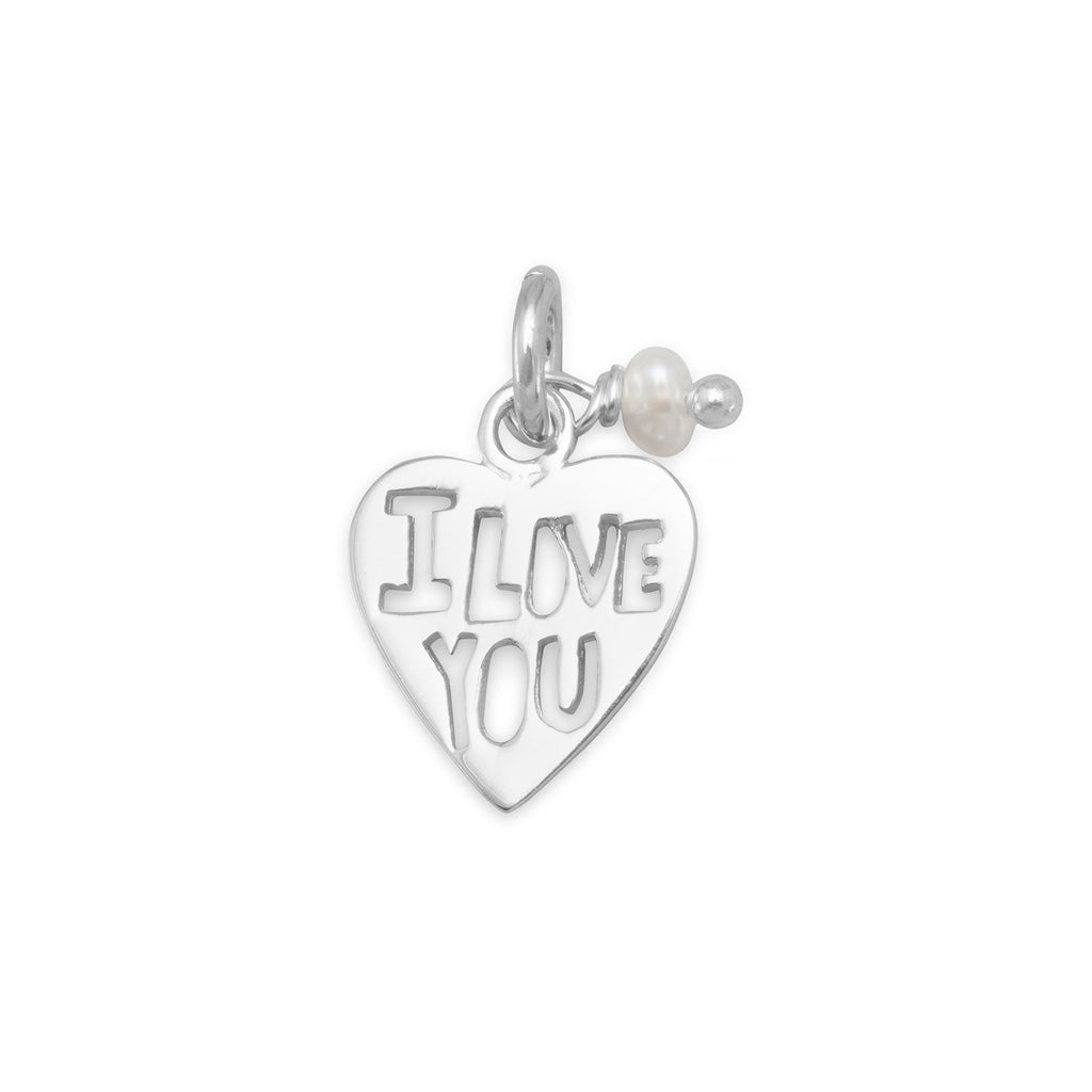 "Cut Out ""I LOVE YOU"" Heart Charm"