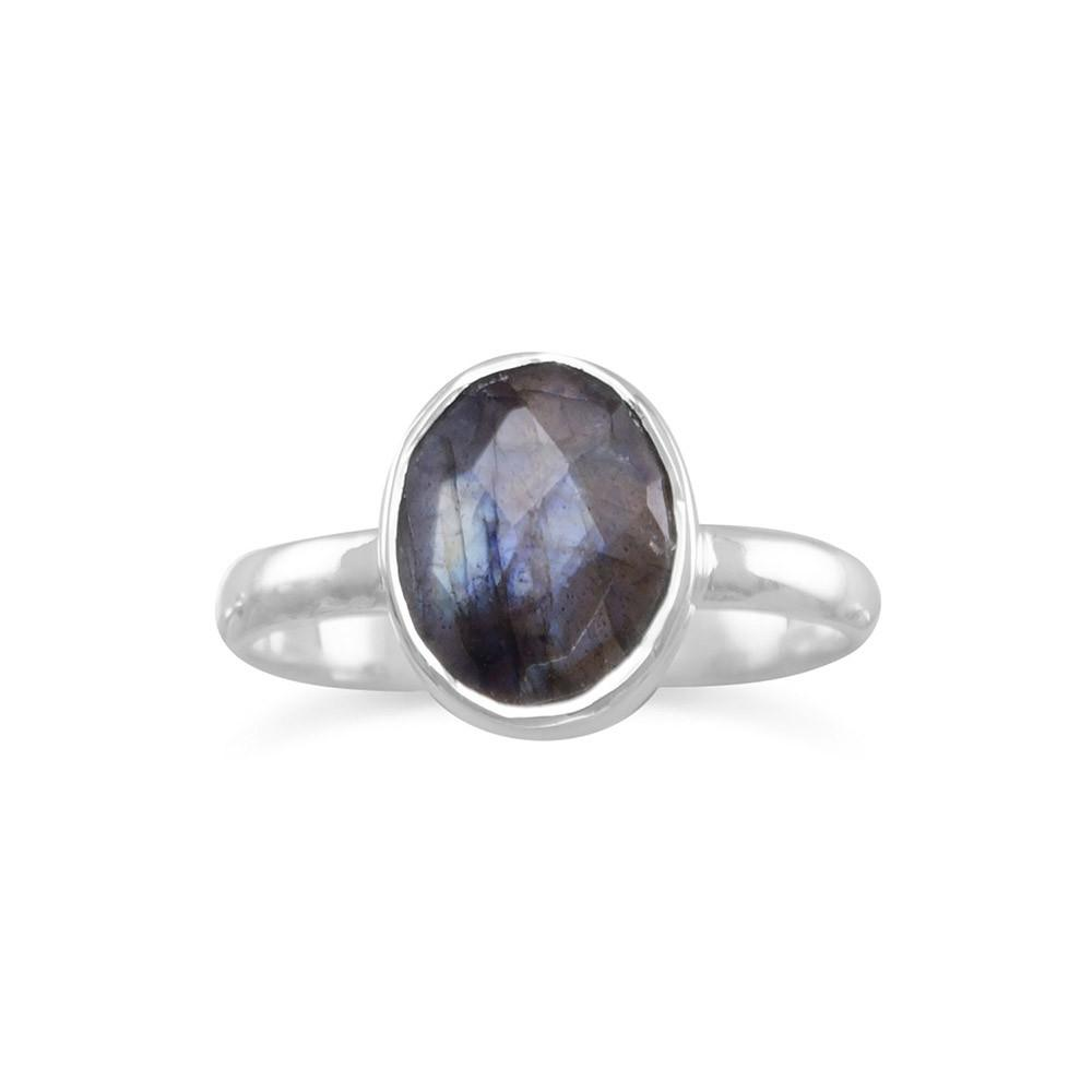 Faceted Labradorite Stackable Ring