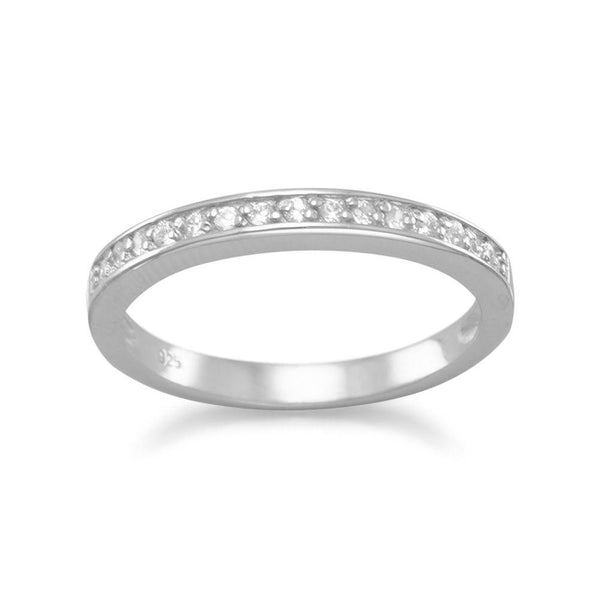 Rhodium Plated CZ Ring