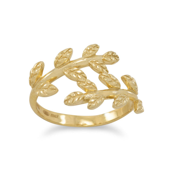 14 Karat Gold Plated Wreath Ring