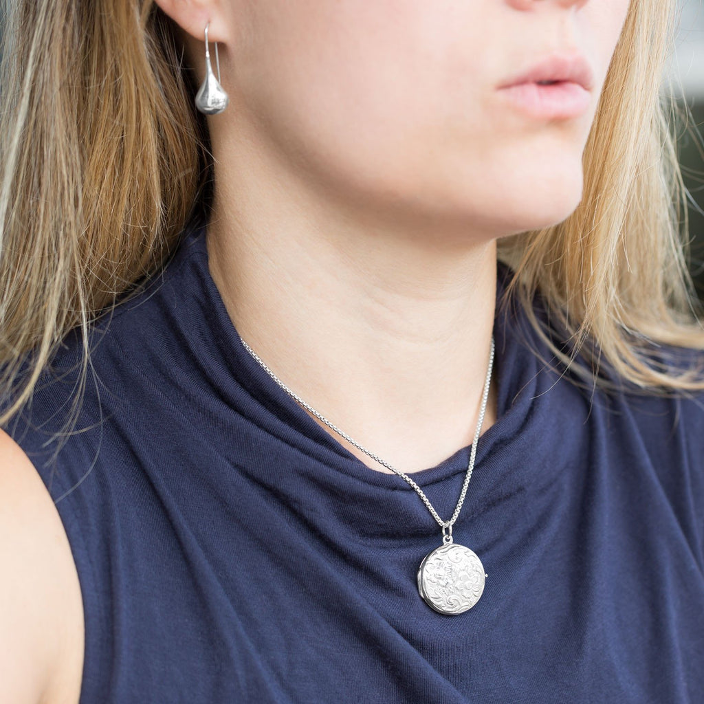 Oxidized Rounded Box Chain Necklace (1.6mm) - Blue Tulip Boutique