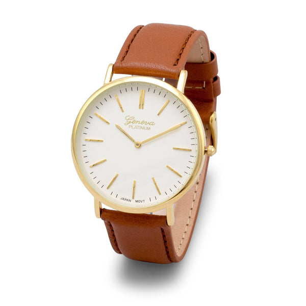 Tan Leather Fashion Watch