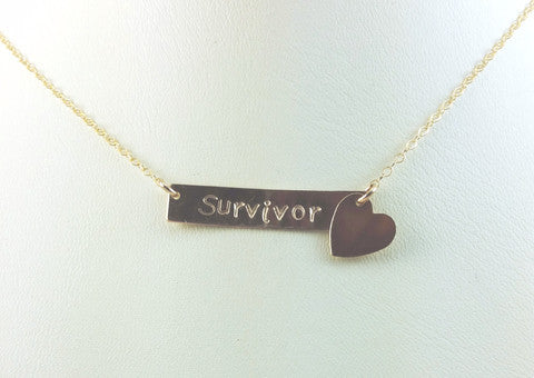 #Awareness Survivor Necklaces - Blue Tulip Boutique