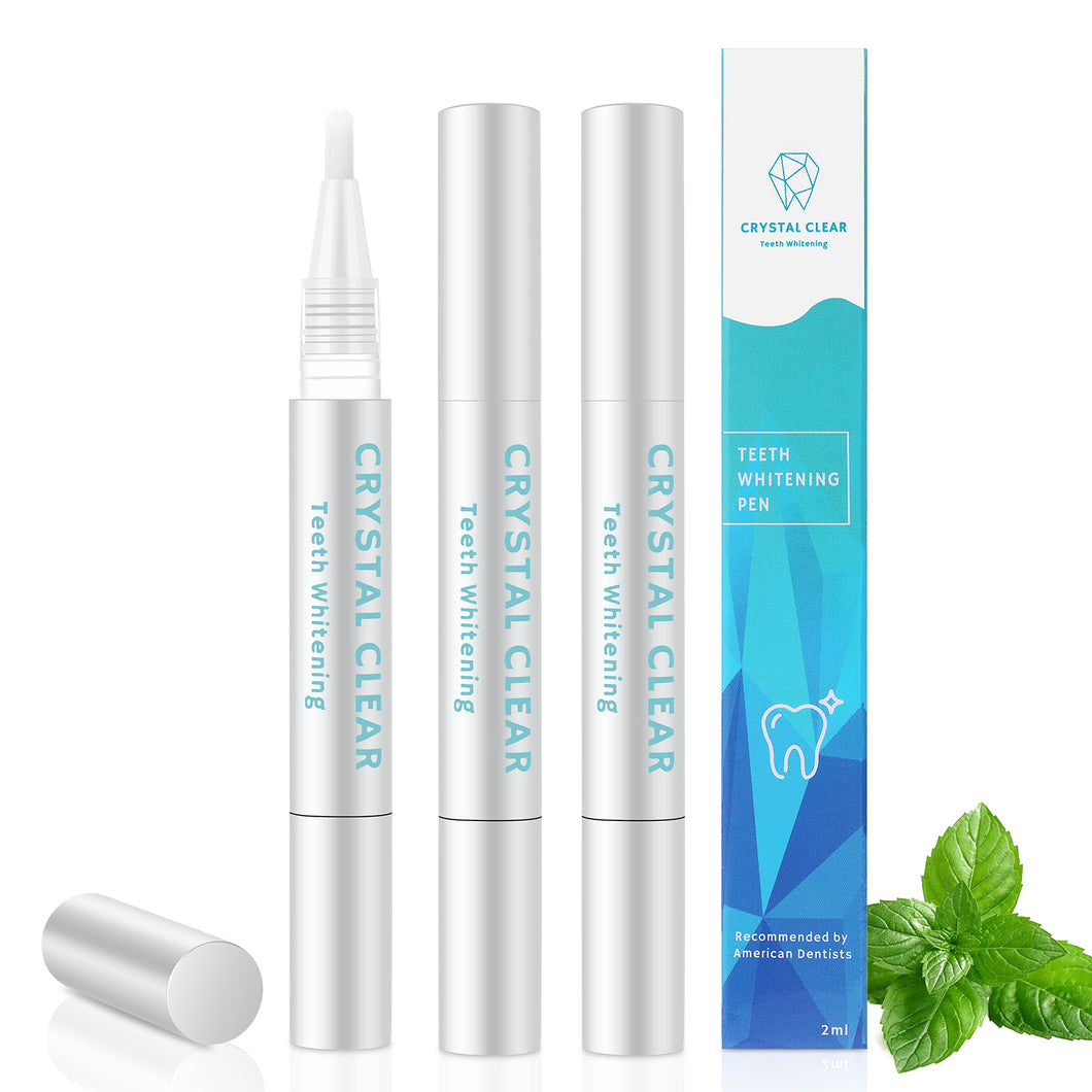 Crystal Clear Teeth Whitening Pen - 3 Pack