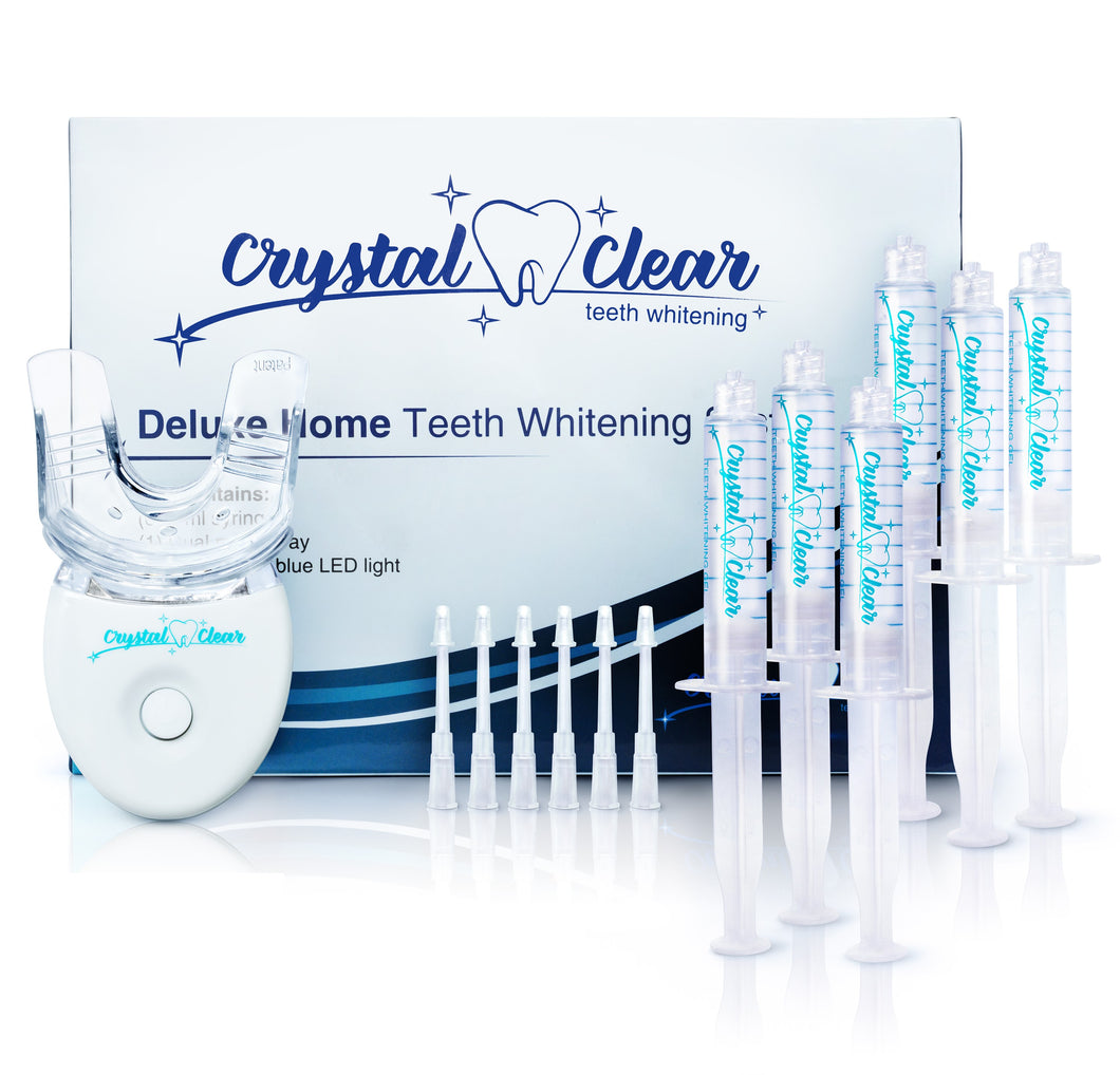 teeth whitening kit gel led light