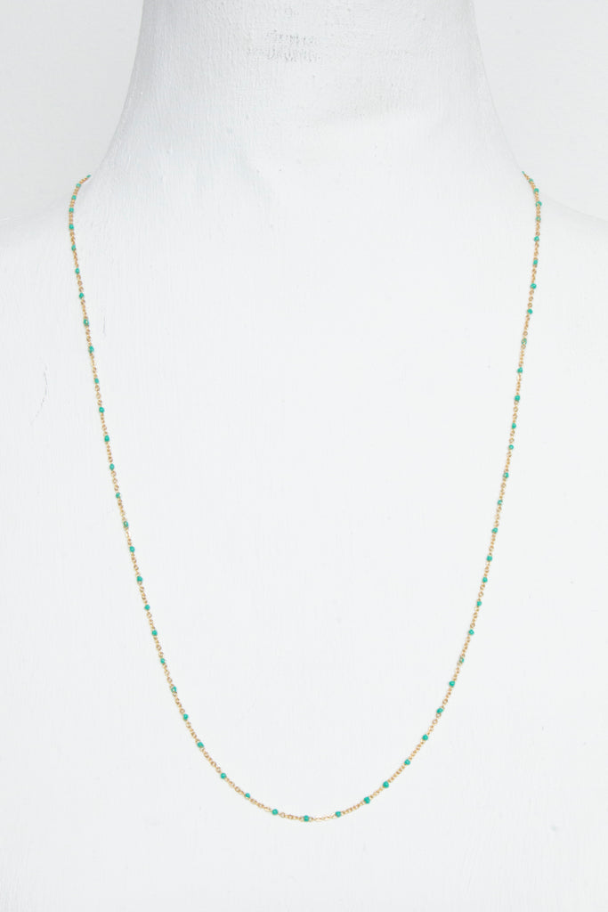Gold/Green Fine Chain - desray.co.za