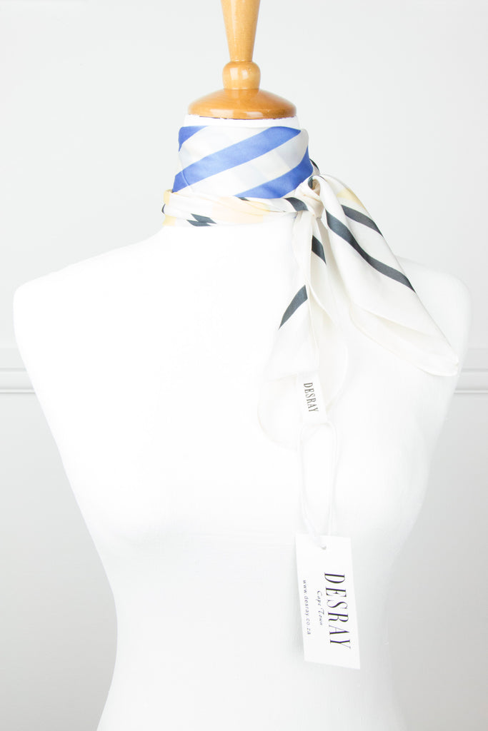 Cream/Yellow Stripe Neck Scarf - desray.co.za