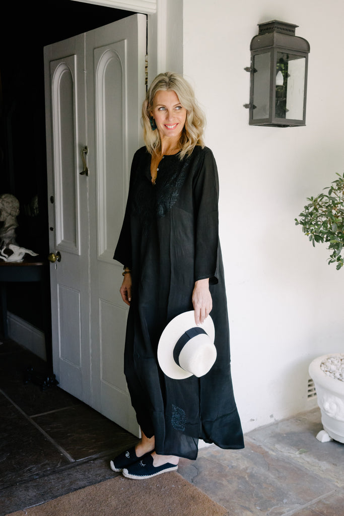Black Long Kaftan