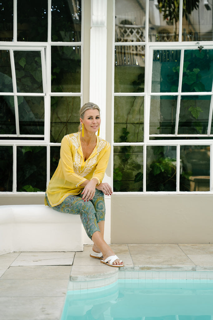 Yellow Kaftan Top - desray.co.za