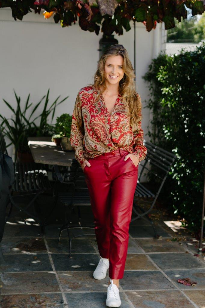 Red Leatherette Pants - desray.co.za