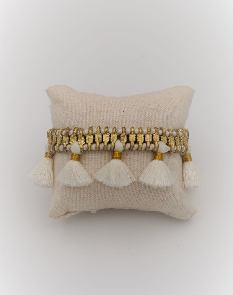 White Charming Tassel Bracelet - desray.co.za
