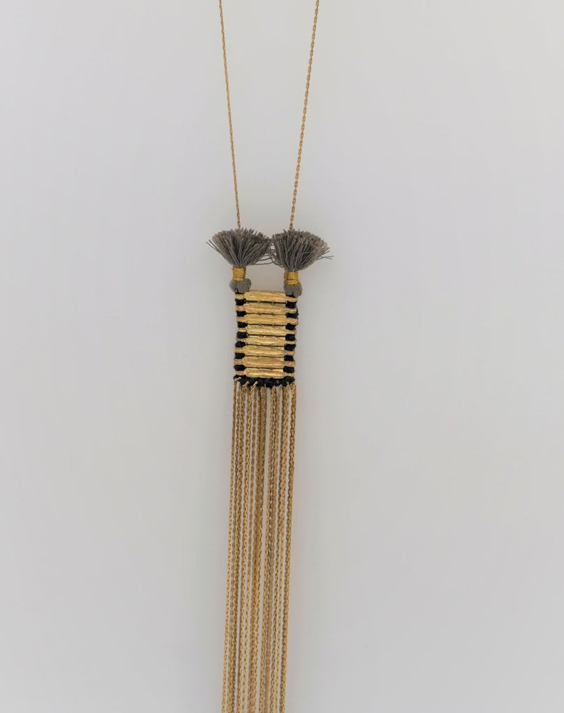Taupe Charming Necklace - desray.co.za