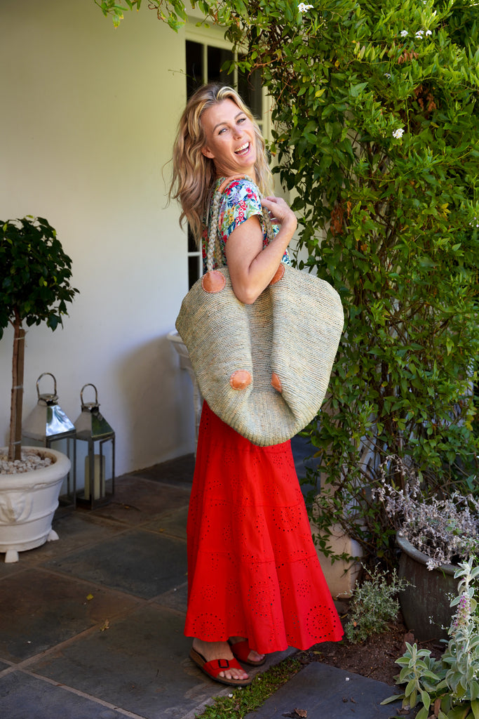 Red Anglaise Skirt - desray.co.za