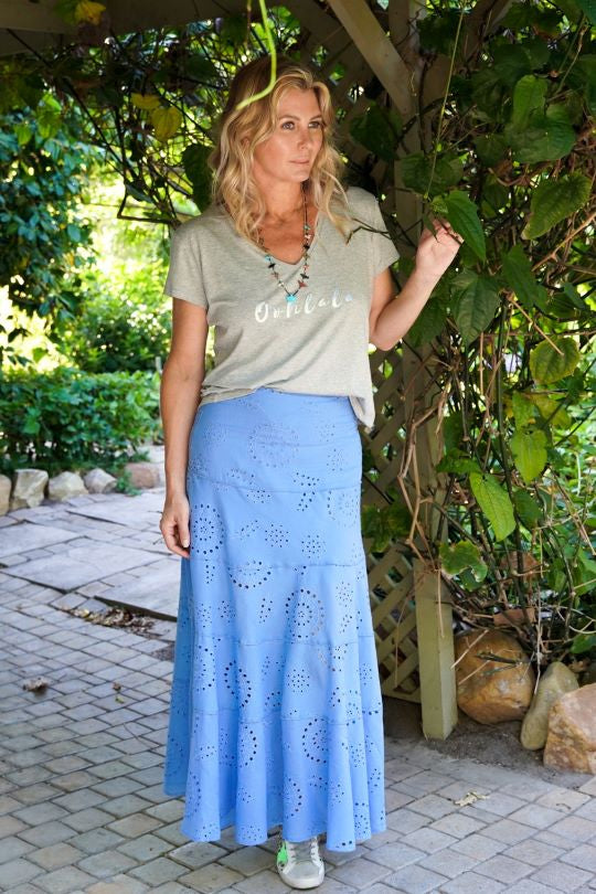 Blue Anglaise Skirt - desray.co.za