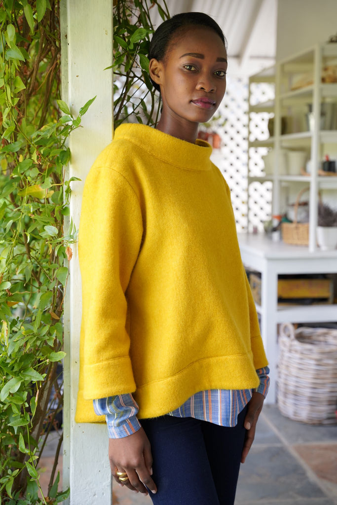 Mustard Coat Top - desray.co.za
