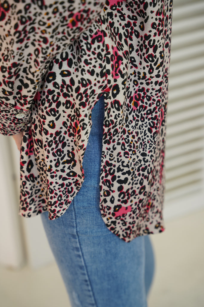 Animal Print Flair Shirt - desray.co.za