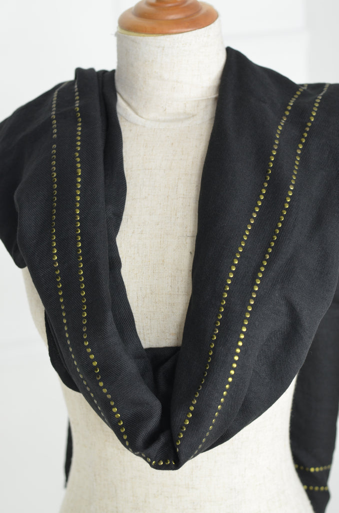 Black Studded Scarf - desray.co.za