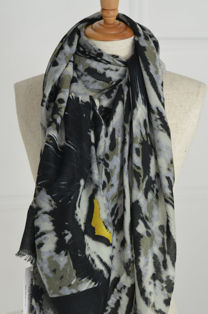 Mottled Animal Print Scarf - desray.co.za