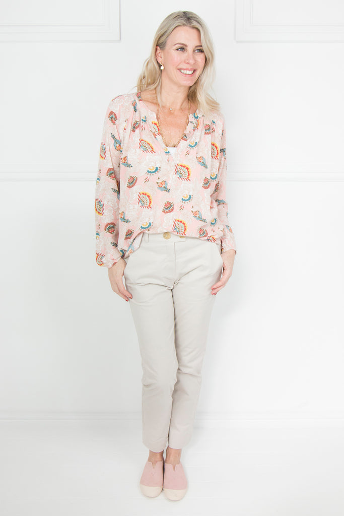 Dusty Pink Print Shirt - desray.co.za