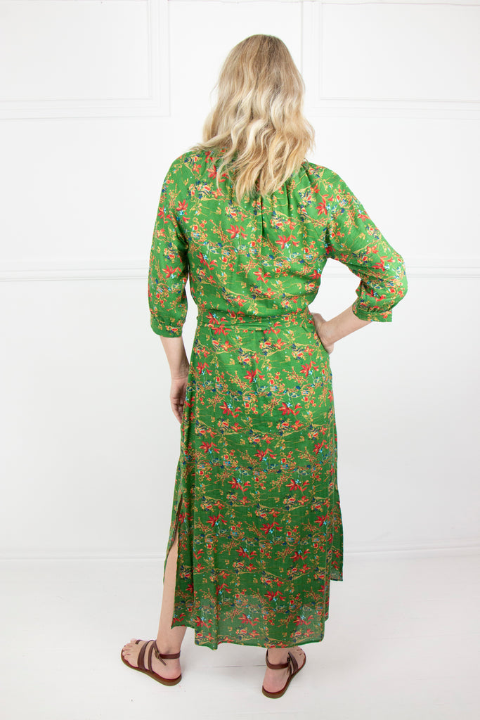 Green Gauged Panel Dress - desray.co.za