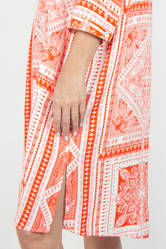 Orange and White Lolita Kaftan - desray.co.za