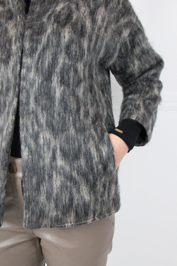 Animal Print Coat - desray.co.za