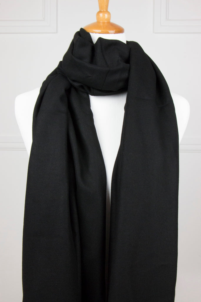 Black Fringe Scarf - desray.co.za