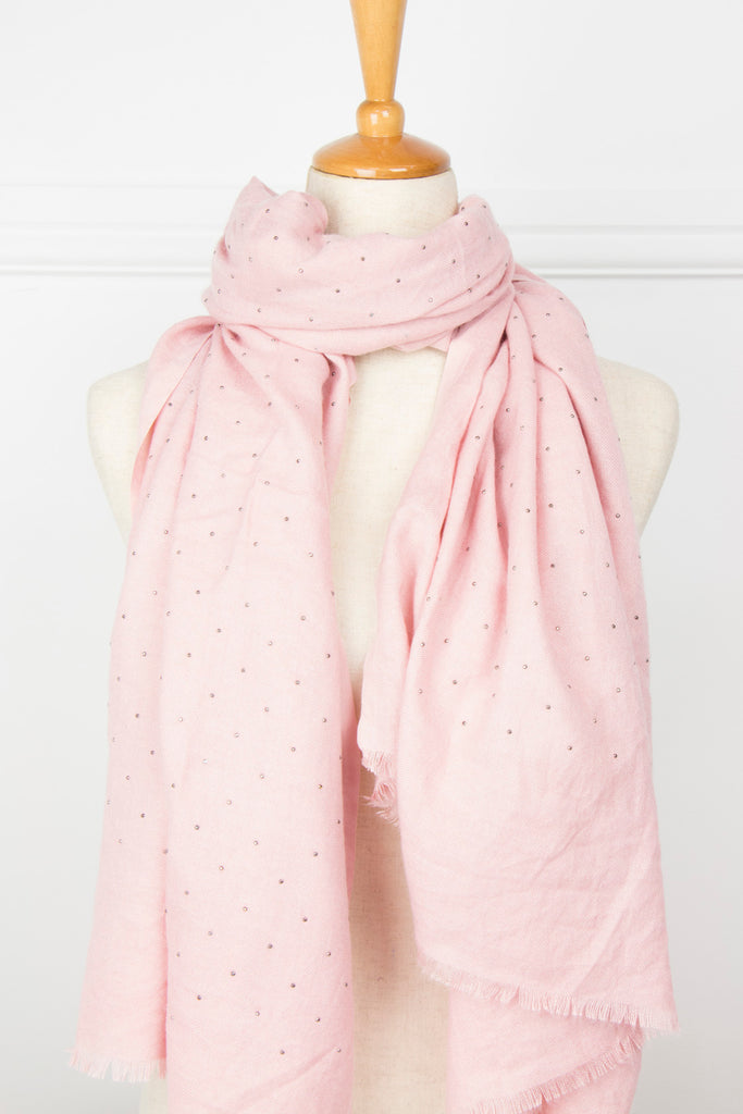 Pink Beaded Scarf - desray.co.za