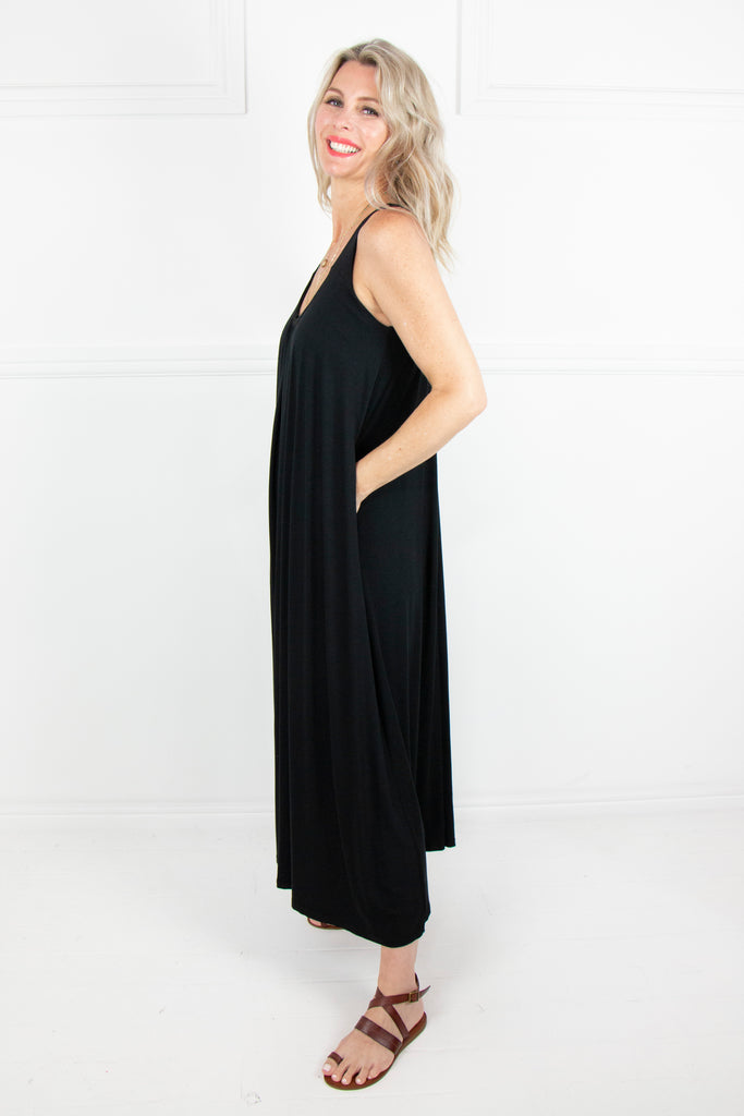 Black Flair Knit Dress - desray.co.za