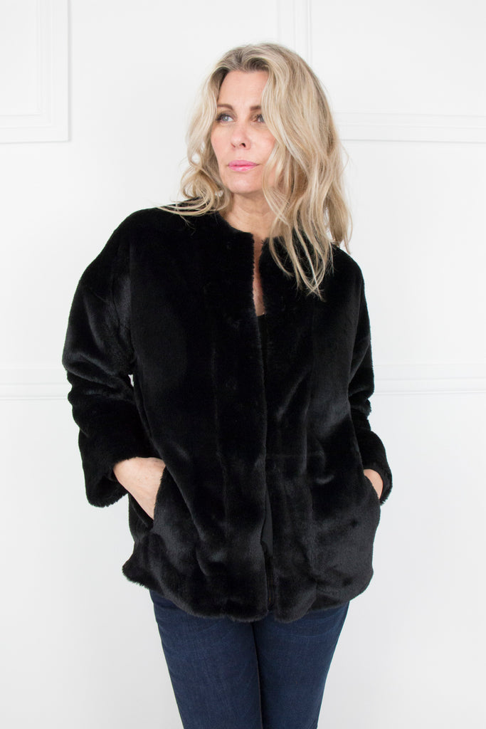 Black Fur Jacket - desray.co.za