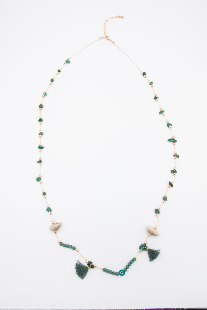 Green and Gold Fancy Necklace - desray.co.za