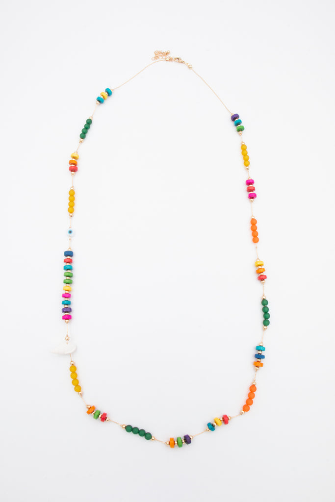 Multi Colour Bead Necklace - desray.co.za