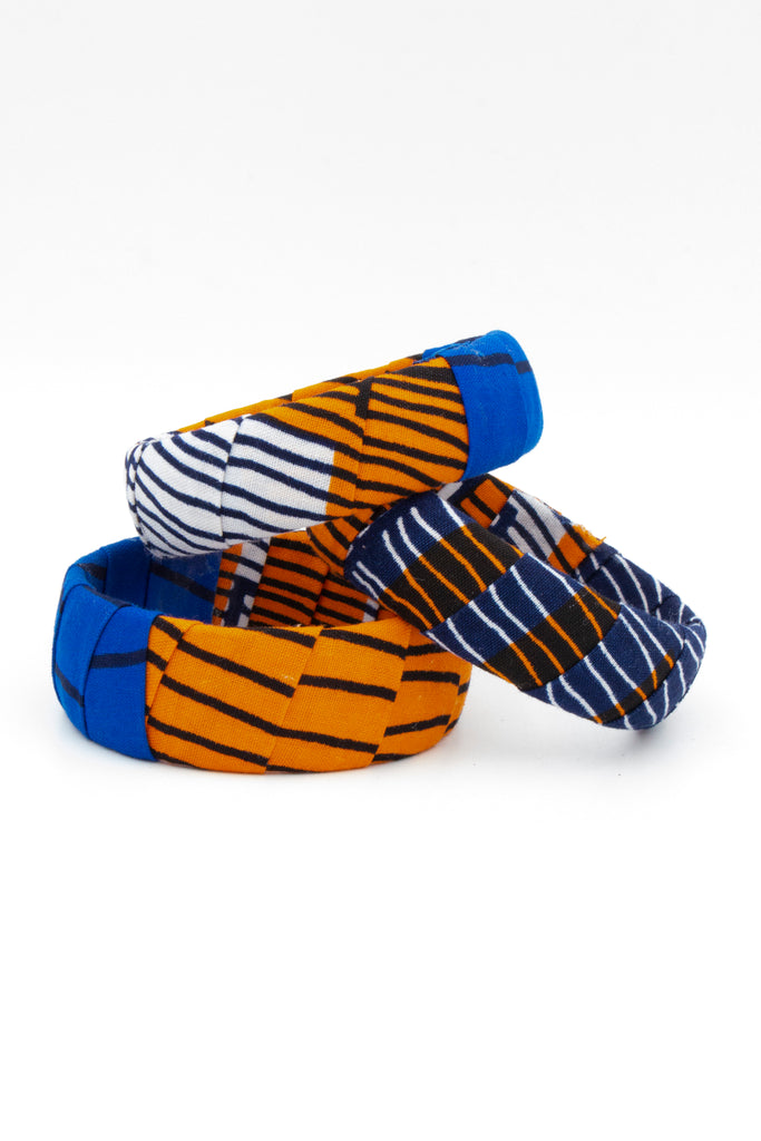 Wax Multiprint Fabric Bracelet - desray.co.za