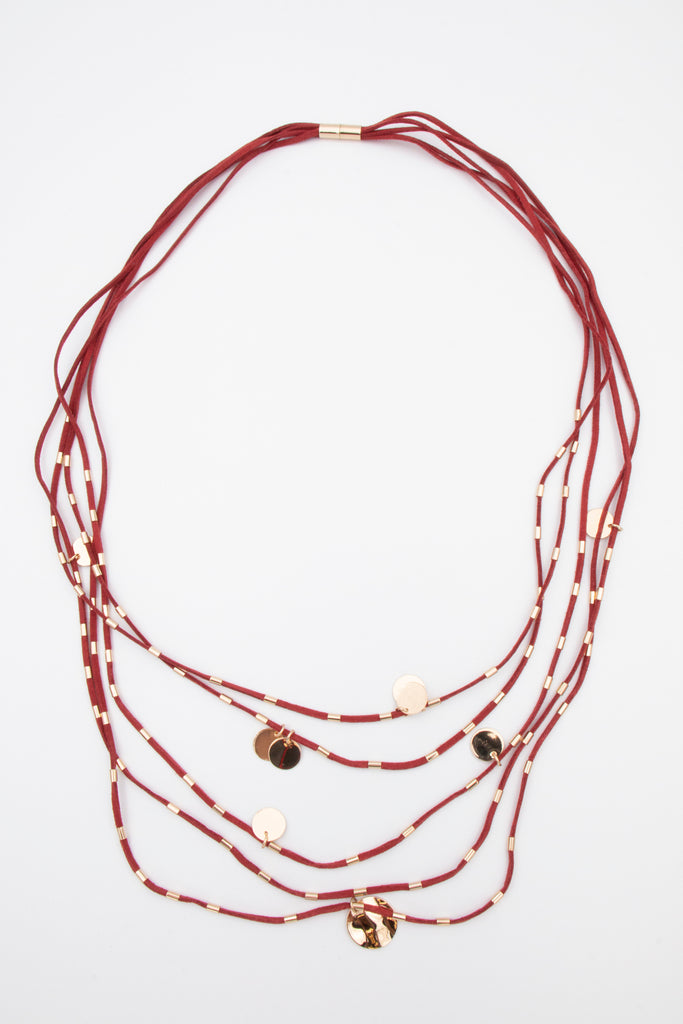 Multi Suede Necklace - desray.co.za
