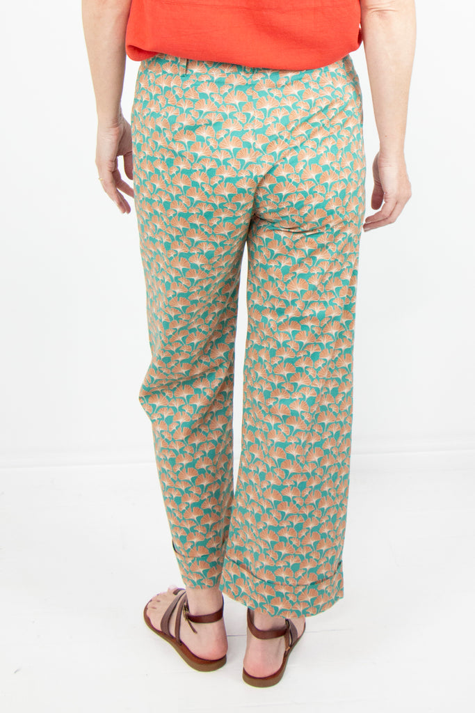 Green Floral Pants - desray.co.za