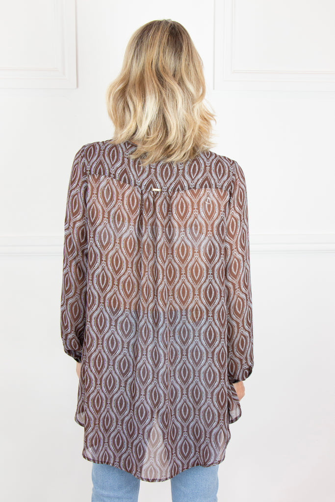 Brown Wallpaper Flair Shirt - desray.co.za
