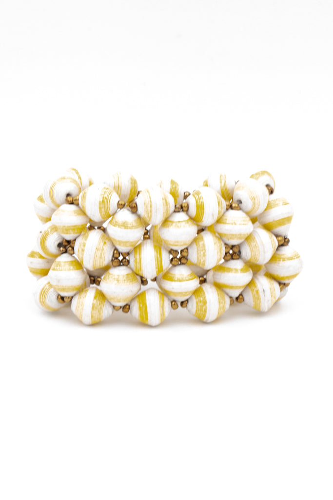 Yellow Paper Bracelet - desray.co.za